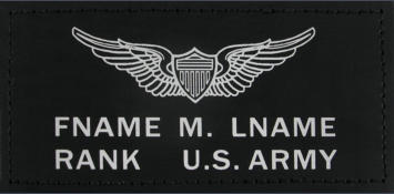 army black leather badges